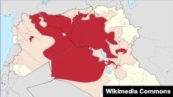 Područja pod kontrolom ISIS-a