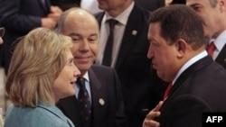 Хиллари Клинтон и Уго Чавес