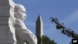 馬丁.路德.金的紀念碑。