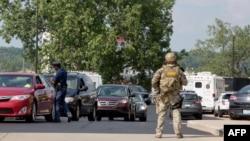 警方封鎖案發現場街道