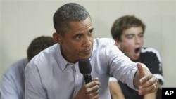 奥巴马总统周三在里士满一个市政式的会议上