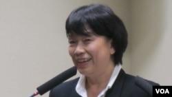 台灣文化部長龍應台(美國之音 張佩芝拍攝)