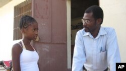 Mirebalais' School Director and new student from Port Au Prince