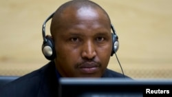 Mantan Jenderal Kongo, Bosco Ntaganda hadir pertama kali di hadapan Mahkamah Kejahatan Internasional di Den Haag hari Selasa (26/3).