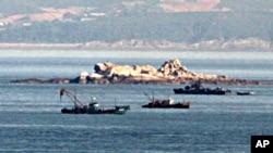 南北韓有爭議的黃海邊界附近領海(資料圖片)
