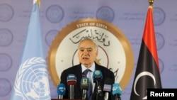 Ghassan Salamé à Tripoli le 6 avril 2019.