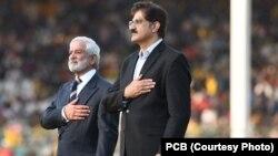 وزیراعلیٰ سندھ سید مراد علی شاہ اور پی سی بی کے چیئرمین احسان مانی