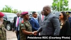Le président de la RDC, Tshisekedi à son arrivée à Bukvau, dans le Sud-Kivu, 7 octobre 2019. (Twitter/Présidence RDC)