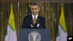 ປະທານາທິບໍດີ Barack Obama ກ່າວວ່າ ການປະຕິຮູບຢູ່ ມຽນມາ ຍັງຈະສືບຕໍ່ໄປອີກ.