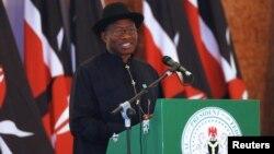 Presiden Nigeria Goodluck Jonathan mengucapkan terimakasih atas dukungan negara-negara lain dalam pencarian siswi yang diculik oleh militan di Chibok.