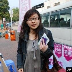 香港市民屠小姐在泛民初選投票