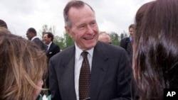 美国前总统乔治.H.W.布什(资料照片)