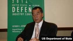 台灣國防部副部長邱國正(美國之音鍾辰芳拍攝)