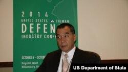 台湾国防部副部长邱国正(美国之音钟辰芳拍摄)