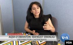 """Shahnoza Ravshanova, """"Yoshlar"""" telekanali jurnalisti"""