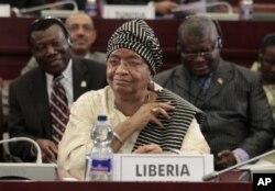 La présidente Ellen Johnson Sirleaf (Malabo, juillet 2011)