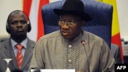 尼日利亚总统乔纳森在西非国家经济共同体会议上致开幕词