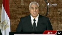 Presiden sementara Mesir, Adly Mansour, telah tiba di Arab Saudi Senin (7/10), untuk kunjungan pertamanya ke luar negeri (foto: dok).
