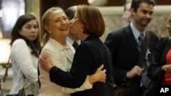 Хиллари Клинтон и Джулия Гиллард. Австралия, Перт, 13 ноября, 2012г.