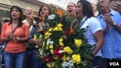 Protesta en Venezuela donde exigen justicia por la muerte de Fernando Albán. Foto de archivo.