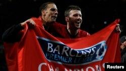Manchester United đoạt chức vô địch giải Premier League của Anh mùa giải 2012-2013 (22/4/2013).