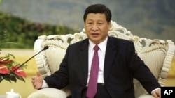 中国国家副主席习近平2012年8月29日在北京人民大会堂会见埃及总统穆尔西(未在 图内)