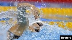 Vận động viên Diệp Thi Văn trong cuộc tranh tài tại Olympic London hôm 31/7/12
