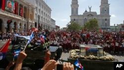 Igiteramo co gusezera Fidel Castro, mu gisagara ca Santiago de Cuba