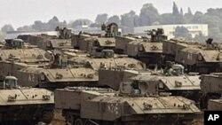 지상전을 준비하는 이스라엘 전차부대(자료사진)