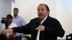 El presidente de Nicaragua, Daniel Ortega, en el inicio de un diálogo nacional en Managua, el miércoles 16 de mayo de 2018.