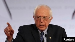 Le candidat aux primaires démocrates Bernie Sanders.