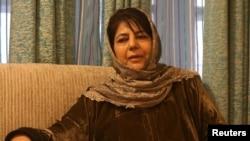جموں و کشمیر کی سابق وزیر اعلیٰ، محبوبہ مفتی (فائل)