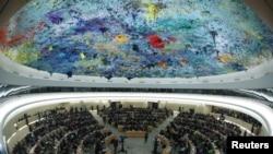 位於日內瓦的聯合國人權理事會召開人權會議。(2019年3月6日)