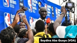 Tacko Fall lors de la 17e édition du camp de la NBA, à Dakar, Sénégal, le 28 juillet 2019. (VOA/Seydina Aba Gueye)