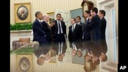 7月7日美国总统会晤幕僚,包括财长和预算管理局局长