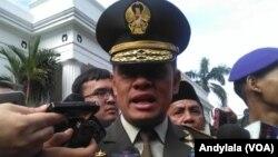 Panglima TNI Jenderal Gatot Nurmantyo di kompleks kementerian luar negeri Jakarta. (Foto dok: VOA/Andylala)