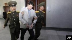 El estudiante Otto Warmbier, detenido el 2 de enero de 2106, hace parte de los cuatro estadounidenses que están actualmente encarcelados por el régimen de Pyongyang.