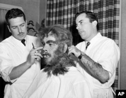 "... the evil Mr. Hyde in ""Abbott and Costello Meet Dr. Jekyll and Mr. Hyde,"" Hollywood 1953. (Both are AP Photos)"