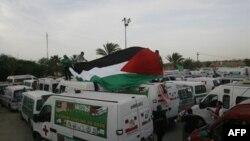 Uluslararası Yardım Konvoyu Gazze'de