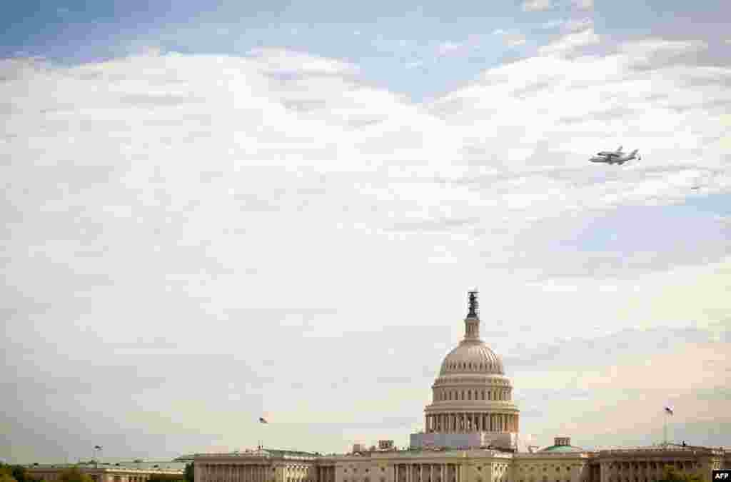 Боїнг кілька разів пролетів над столицею.