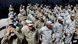 سربازان گارد ملی از ایالت آریزونا - ۹ آوریل ۲۰۱۸