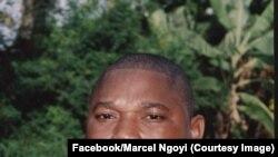 Eddy Isango a joint Marcel Ngoyi, l'éditeur du journal indépendant La Prospérité, à Kinshasa