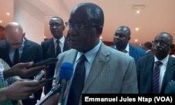 Le représentant du HCR au Cameroun, Lazare Etien Kouassi, à Yaoundé, au Cameroun, le 30 mai 2017. (VOA/Emmanuel Jules Ntap)