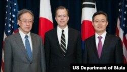 美日韩三方会晤(来源:美国国务院)