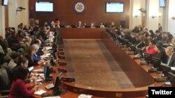 Consejo Permanente de OEA inicia sesión para recibir reporte sobre visita de Estados Miembros a frontera colombo-venezolana y tercer informe del Grupo de Trabajo para Nicaragua. Foto: OEA.