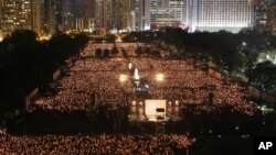 Hong Kong Tiananmen Vigil Attracts Tens of Thousands