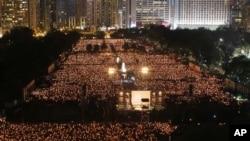 Hong Kong Tiananmen Vigil Attracts Tens of Thousands