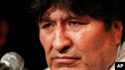 Evo Morales durante una conferencia de prensa en Buenos Aires, Argentina (Reuters/Agustín Marcarian)