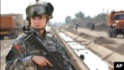 Một nữ chiến binh Hoa Kỳ.