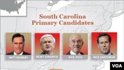 South Carolina akan menggelar Pemilu Pendahuluan untuk Kandidat Capres Partai Republik, Sabtu 21 Januari 2012 (Foto: dok).